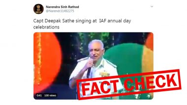 Viral Video of Captain Deepak Sathe Singing 'Ghar Se Nikalte Hi' at IAF Annual Day is FAKE! Here's The Truth