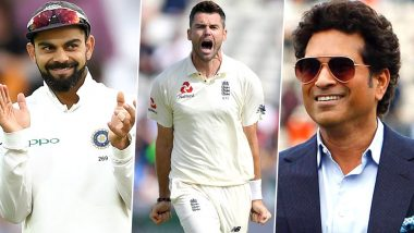 James Anderson Becomes First Pacer to Scalp 600 Test Wickets: Virat Kohli, Sachin Tendulkar, Yuvraj Singh Lead Cricket Fraternity in Congratulating the Legendary England Bowler