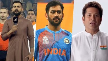 Independence Day 2020: Virat Kohli, MS Dhoni, Sachin Tendulkar and Other Indian Cricketers Singing the National Anthem Passionately in These Throwback Videos & Pics Will Make You Feel Immensely Proud!