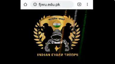 Fatima Jinnah Women University Website Hacked on Indian Independence Day 2020; Greetings, Message of 'Mandir Lahore, Karachi Mei Banayenge' Pasted