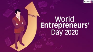 World Entrepreneurs' Day Images & HD Wallpapers For Download Online: Wish Happy Entrepreneurs' Day With WhatsApp Messages and GIF Greetings