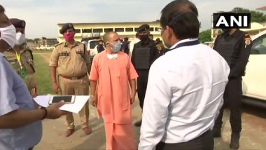 Ram Mandir Bhumi Pujan: Yogi Takes Stock of Arrangements in Ayodhya, Says 'COVID-19 is Main Focus'