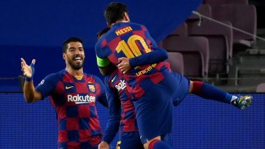 Lionel Messi & Barcelona Script Stunning Records As Catalan Giants Beat Napoli During Champions League 2019-20 Match (Watch Video)