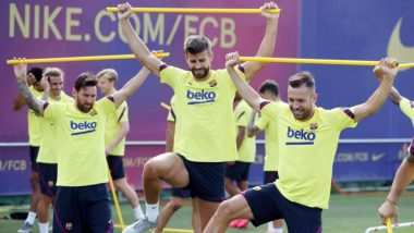 Barcelona Announces 26-Member Squad for Champions League 2019-20 Match Against Bayern Munich as Lionel Messi & Robert Lewandowski Take On Each Other