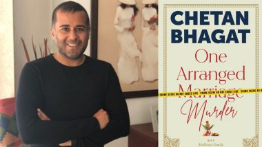 One Arranged Murder: Chetan Bhagat Launches the Eerie Cover of His Next Book (See Pic)