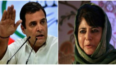 Rahul Gandhi Seeks Mehbooba Mufti's Release, Tweets 'India's Democracy is Damaged When GOI Illegally Detains Political Leaders'