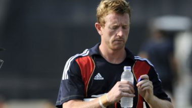 Paul Collingwood, Assistant Coach, Brings Drinks for England During Day Four of Third Test Against Pakistan