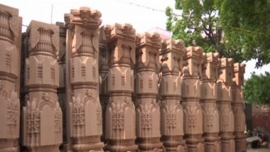 Ram Temple Bhoomi Pujan Ceremony: Stonework for Ram Mandir Reaches Final Stage Ahead of Foundation Laying Ceremony in Ayodhya