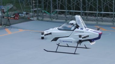 Flying Cars in the 21st Century is Finally Happening! Japanese Company SkyDrive Successfully Completes First Test Flight With Person Aboard (Watch Video)