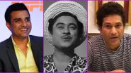 Kishore Kumar Birth Anniversary: Sanjay Manjrekar Gives Rendition of Legendary Artiste's First Ever Song; Sachin Tendulkar Pays Tribute As Well (Watch Video)