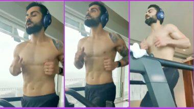 Virat Kohli Flaunts Chiselled Abs During Treadmill Workout, RCB Captain Looks Raring to Go for IPL
