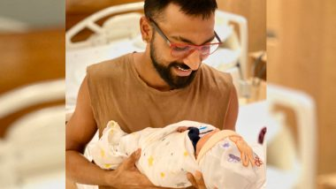 Mumbai Indians All-Rounder Krunal Pandya's First Pic With Nephew and Hardik Pandya's Son Is All About 'One Family'