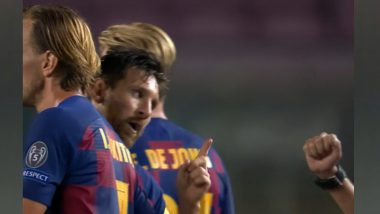 Upset Lionel Messi Refused To Shake Hands With Referee Cuneyt Cakir After Barcelona vs Napoli Match Following VAR Controversy (Watch Video)