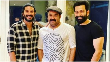 Dulquer Salmaan Reacts to the Viral Picture With Mohanlal and Prithviraj, Says He Likes the Mystery Behind It