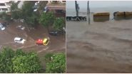 Mumbai Rains: Netizens Share Pics and Videos of Waterlogged Streets and Flooded Lanes As Red Alert Prevails, Continuous Rainfall Cripples City's Lifelines