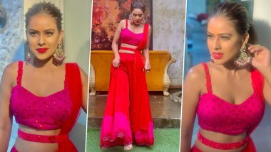 Resplendent in Red! Nia Sharma's Goes all Traditional in her Recent Fashion Outing and We are Stunned (View Pics)