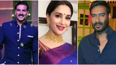 Ganesh Chaturthi 2020: Akshay Kumar, Madhuri Dixit Nene, Ajay Devgn And Other Bollywood Celebs Extend Warm Wishes To Fans! (View Posts)