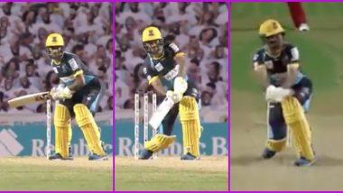 CPL 2020: Rashid Khan Plays 'Hockey Flick' Shot, Hits Alzarri Joseph for a Six (Watch Video)