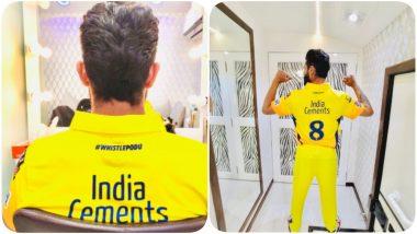 Ravindra Jadeja Gears Up for IPL 2020, Poses Wearing Chennai Super Kings Jersey (See Pics)
