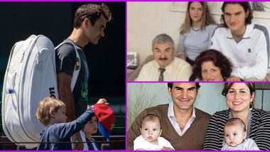 Roger Federer Birthday Special: 10 Lovely Family Pics of Swiss Maestro Including Wife Mirka Federer and Kids