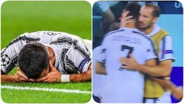 Cristiano Ronaldo Bursts Into Tears After Lyon Knock Juventus Out of Champions League 2019-20, CR7 Comforted by Teammate Giorgio Chiellini (See Pic)