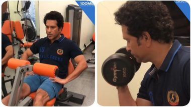 Sachin Tendulkar Hits the Gym After Unlock 3.0, Posts a Video on Social Media