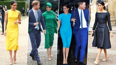 Meghan Markle Birthday Special: The Duchess of Sussex Has a Posh Style File That's Filled With Some Vivid and Sophisticated Fashion Choices (View Pics)