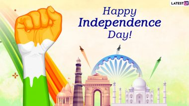 Independence Day 2020 Wishes Images and Messages: WhatsApp Stickers, Tiranga HD Photos, GIFs, Patriotic Quotes and Facebook Greetings to Send on 15th of August