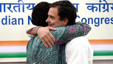 Raksha Bandhan 2020 Wishes: Rahul Gandhi Greets People on the Auspicious Occasion, Tweets Adorable Picture of Him and His Sister Priyanka Gandhi Vadra