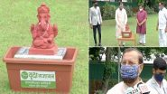 Ganpati Utsav 2020: Earthen Ganesh Idol Presented to Prakash Javadekar by Vruksha Gajanan Organisation, Minister Lauds Effort Saying Earthen Idols Can Be Disposed Without Pollution; See Pics