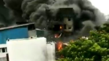 Gujarat: Fire Breaks Out at Chemical Factory in Vapi, Thick Black Smoke Seen; Watch Video