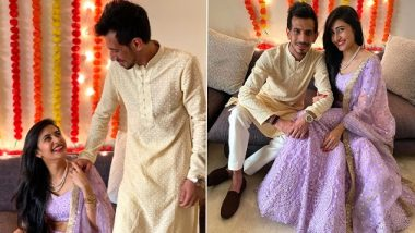 Yuzvendra Chahal and Dhanashree Verma Get Engaged: Indian Spinner Shares Roka Ceremony Pics With Choreographer Fiance and Family