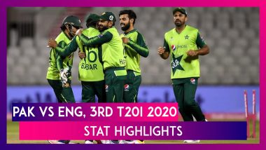 PAK vs ENG Stat Highlights 3rd T20I 2020: Mohammad Hafeez, Haider Ali Guide Pakistan To Five-Run Win