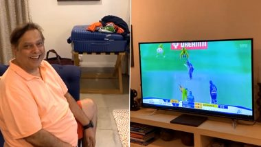 IPL 2020: Varun Dhawan Shares Glimpse of Father David Dhawan Cheering For Mumbai Indians