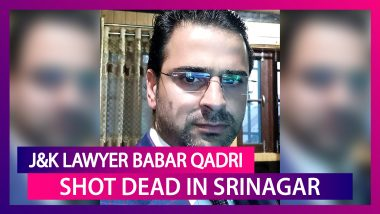 Babar Qadri, J&K Lawyer Shot Dead At His Srinagar Home Three Days After Asking Police For Help On Twitter