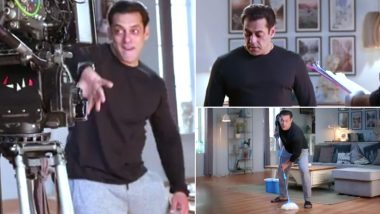 Bigg Boss 14: Salman Khan's BTS Footage from Reality Show's Promo Shoot Is Funny (Watch Video)