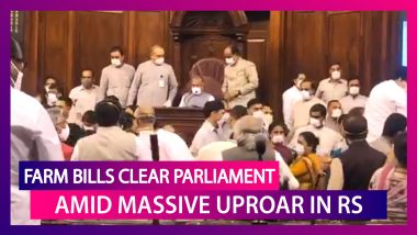 Farm Bills Cleared In Parliament Amid Massive Uproar By The Opposition In Rajya Sabha; 'Making Farmers Shed Tears Of Blood' Said Rahul Gandhi; TMC Accuse Dy RS Chairman Harivansh Narayan Singh Of Colluding With BJP, No Confidence Motion Against Him