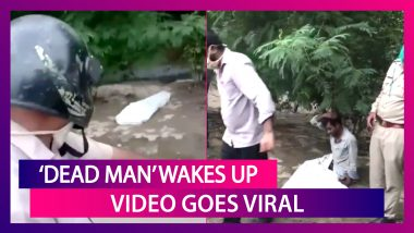 'Dead Man' Lying On The Roadside In Ghaziabad 'Wakes Up'; Residents Panic; Video Of The Bizarre Incident Goes Viral