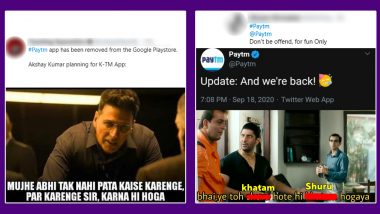 Paytm Removed and Then Brought Back by Google App Store! Funny Memes and Jokes Take over Twitter as Netizens Grab a Popcorn