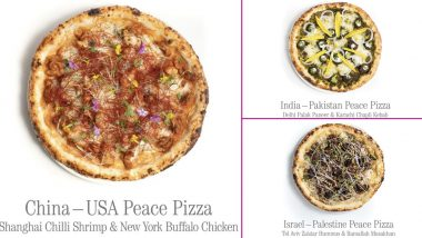 India-Pakistan Pizza, Anyone? Vietnamese Restaurant Pizza 4P's Introduces Unique Pizza Recipes to Encourage Harmony Among Nations on International Day of Peace 2020; Pics of China-USA & Israel-Palestine Pizzas Win the Internet