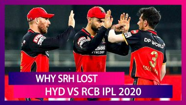 Hyderabad vs Bangalore IPL 2020: 3 Reasons Why Hyderabad Lost To Bangalore