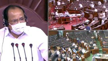 Rajya Sabha Ruckus Over Farm Bills: Venkaiah Naidu Suspends 8 MPs For 'Unruly Behaviour', Dismisses No-Confidence Motion Against Deputy Chairman Harivansh Narain Singh