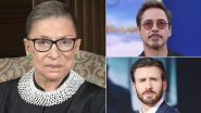 Ruth Bader Ginsburg No More: Chris Evans, Robert Downey Jr and Others Mourn the Loss of US Supreme Court Justice