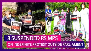 Farm Bills Row: 8 Suspended Rajya Sabha MPs Spend Night Outside Parliament In Protest, Refuse Deputy Chairman's Tea; PM Modi Backs Harivansh Narain Singh