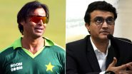 Shoaib Akhtar Takes a Dig at Sourav Ganguly After BCCI President Blurs Hoarding of Pakistan Cricketers During Sharjah Visit, Rawalpindi Express Posts Photo With MS Dhoni