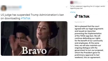 TikTok Ban by Donald Trump Temporarily Blocked in the US: Netizens Share Funny Memes and Reactions on Twitter