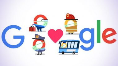 Thank You Coronavirus Helpers Google Doodle by Search Engine Giant Lauds Frontline Workers Fighting COVID-19 Pandemic