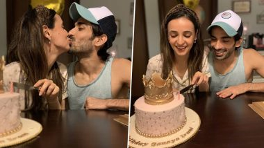 Mohit Sehgal Kisses Wife Sanaya Irani as He Wishes Her on Birthday With a Sweet Instagram Post (See Pic)
