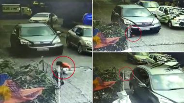 Toddler Survives After Being Run Over by Car While Playing Outside His House in Mumbai, Case Registered After Video Surfaces Online