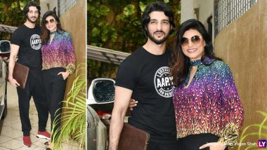 Sushmita Sen and Rohman Shawl Pose for Pictures and His 'I Survived Aarya 360 Degrees' T-shirt Has Our Attention